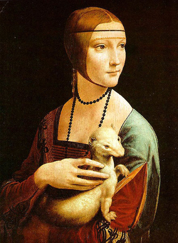 """Lady with an Ermine"" by Leonardo da Vinci, 1489-90."